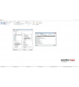 Lista dostępnych raportów z dokumentów w programie WAPRO FAKIR